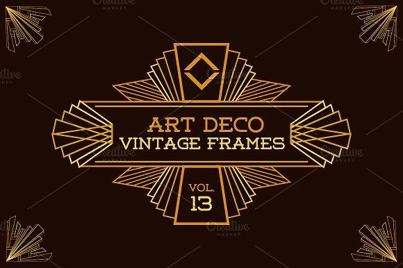 Art Deco Vintage Frames Vol13 Illustrations Creative Market
