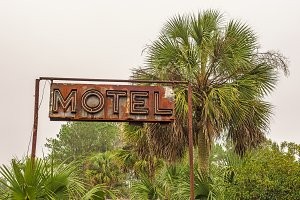 Rustic Neon Motel Sign