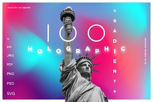 100 HOLOGRAPHIC GRADIENTS