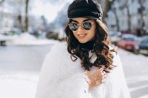Stylish and fashionable woman