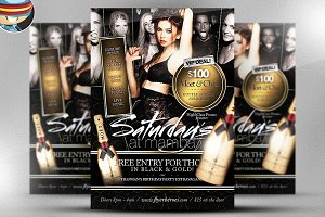 Saturdays At Mamba Flyer Template