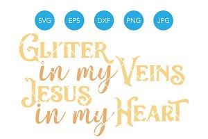 Jesus in my Heart SVG Cut File