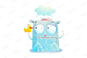 Bad Rainy Day of Cute Monster
