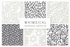 Whimsical Seamless Patterns Set