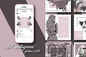 Art fashion instagram posts