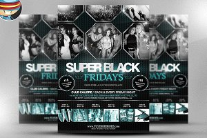 Super Black Friday Flyer Template