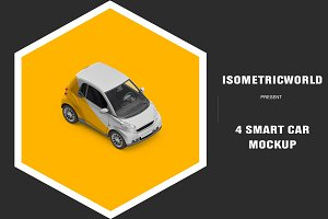 Isometric Smart Car Mock-up
