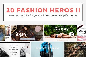 20 Fashion Header Banners PSD II