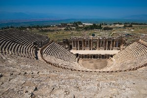 Roman amphitheatre in the ruins of Hierapolis