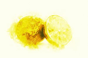 Watercolor Illustration Lemons