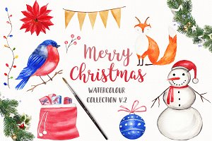 Watercolor Christmas Collection v2