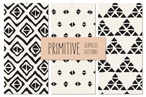Primitive Seamless Patterns Set 2