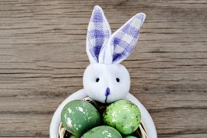Easter Green Eggs In The Basket