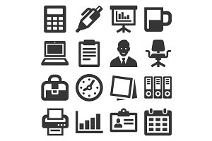 Office Supplies Icons Set