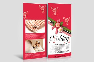 Wedding Rack Card Template 2 Sided