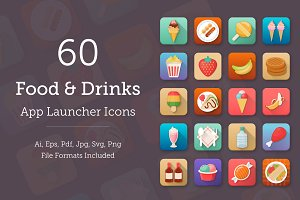 60 Food and Drinks App Icons