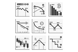Bitcoin Chart Graphics Set