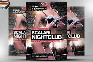 Scalari Nightclub Flyer Template