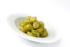 Gnocchi with pesto sauce