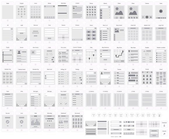 Mobile App Visual Flowchart Sketch Product Mockups Creative Market