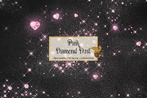 Pink Diamond Dust Clipart