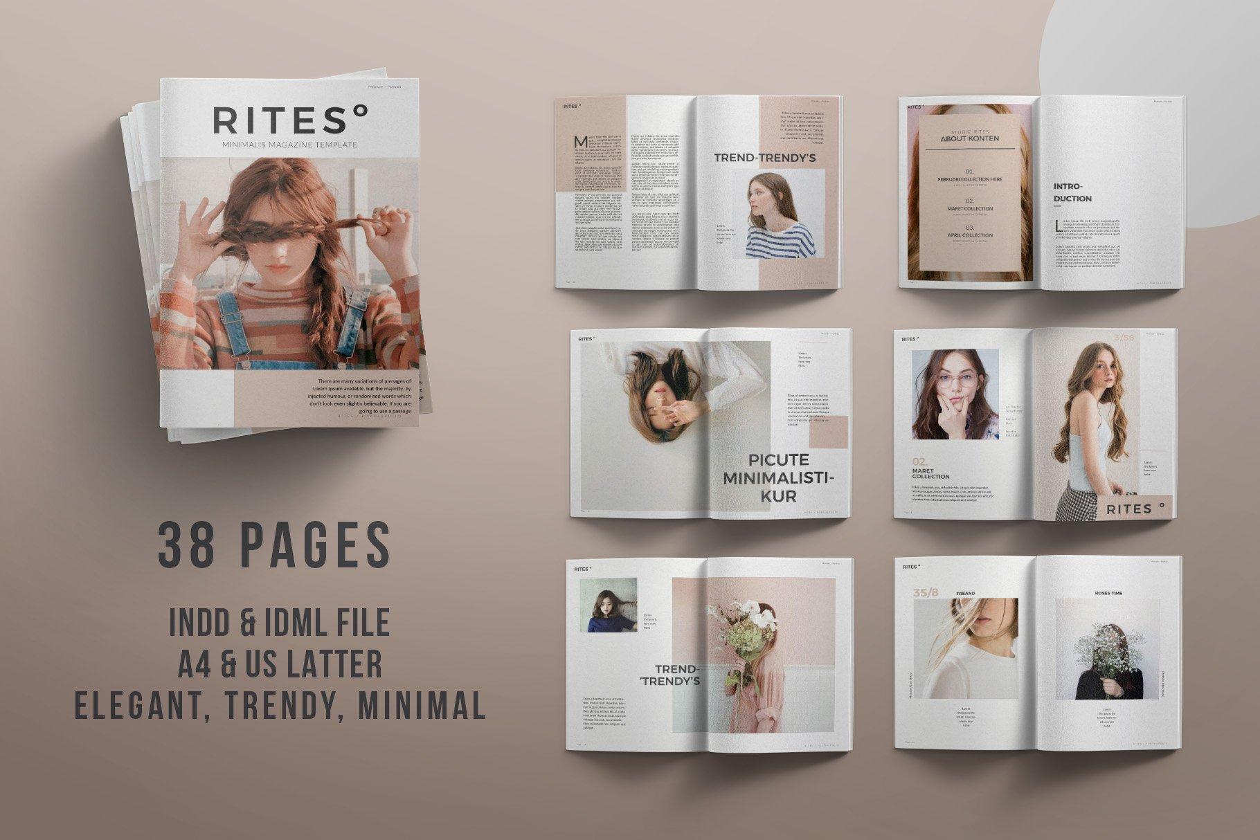 rites magazine magazine templates creative market