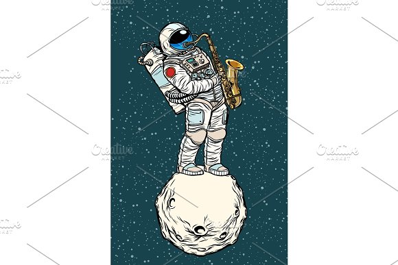 Astronaut Saxophonist Plays Jazz In Space Saxophone Musical Ins