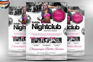 Kafellia Nightclub Flyer Template