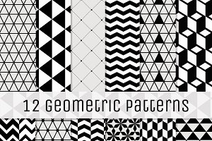 12 Geometric Seamless Backgrounds