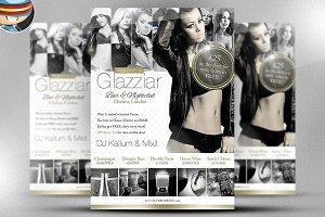 Glazziar Bar Flyer Template
