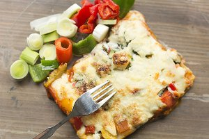Italian gastronomy called lasagna