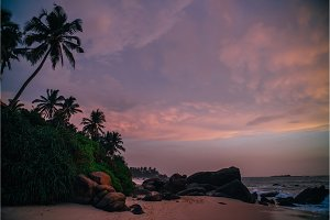 Sri Lanka beach at sunset