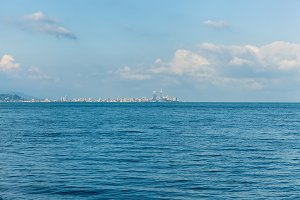 view of Batumi from the sea