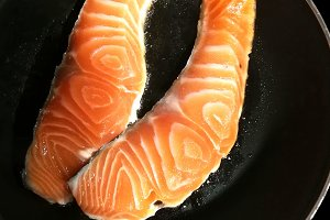 Cooking fresh salmon