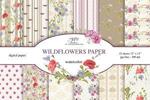 wildflowers paper