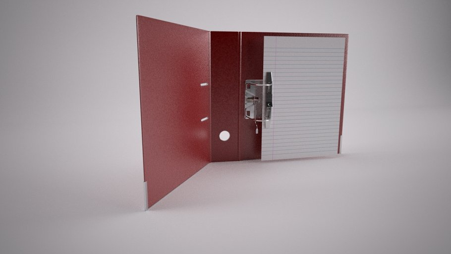 Lever Arch File [Rigged + Wired]