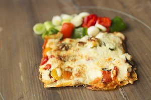 Italian food known as lasagna