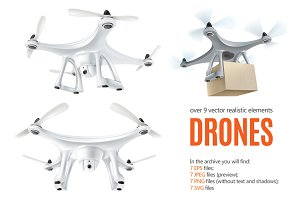 Drones Realistic Set