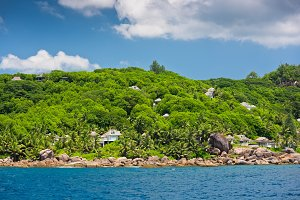 Coastline of Seychelles islands