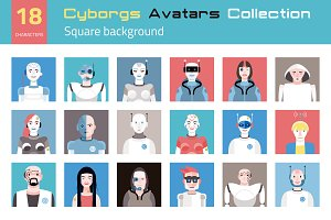 Cyborgs Avatars Collection