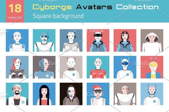 Cyborgs Avatars Collection