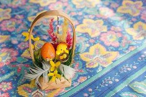 Traditional polish easter basket