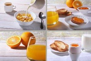 Morning breakfast. Set