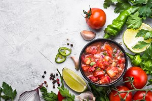 Salsa  sauce mexican food.