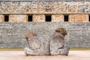 Two Headed Jaguar Statue