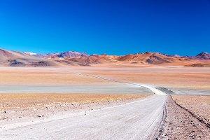 Barren and Colorful Landscape