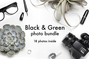 Black & Green photo bundle