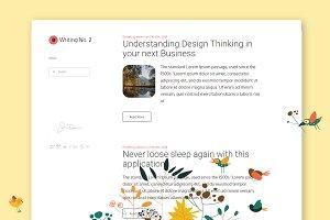 Writing No. 2 WordPress Theme