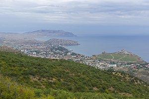 Panorama of the Black Sea coast.