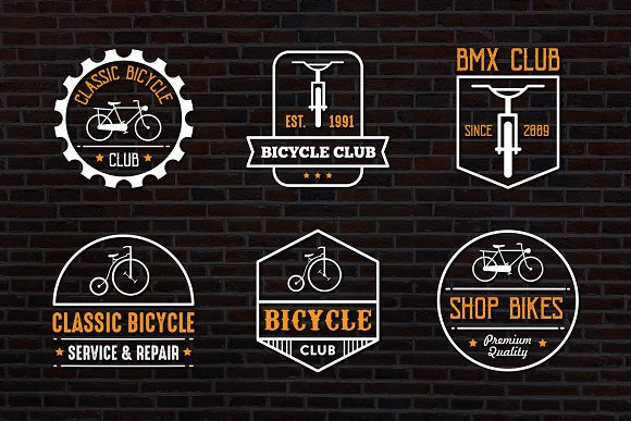 Bicycle Vintage logo & Badge in Logo Templates